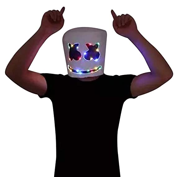 zhaokai DJ Marshmallow LED Light Mask Látex Máscara de ...