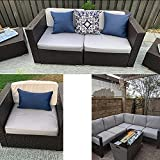 FLYMEI Outdoor Seat Cushion Cover Set, Large Patio