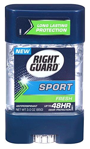Right Guard Sport 3D Odor Defense, Anti-Perspirant Deodorant Clear Gel, Fresh 3 oz (Pack of 3)