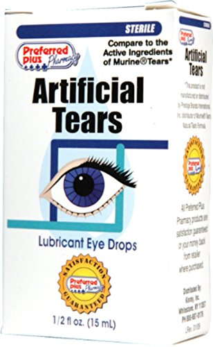 Artificial Tears Solution - Artificial Tears Lubricant Eye Drops 15 ml (Pack of 12)