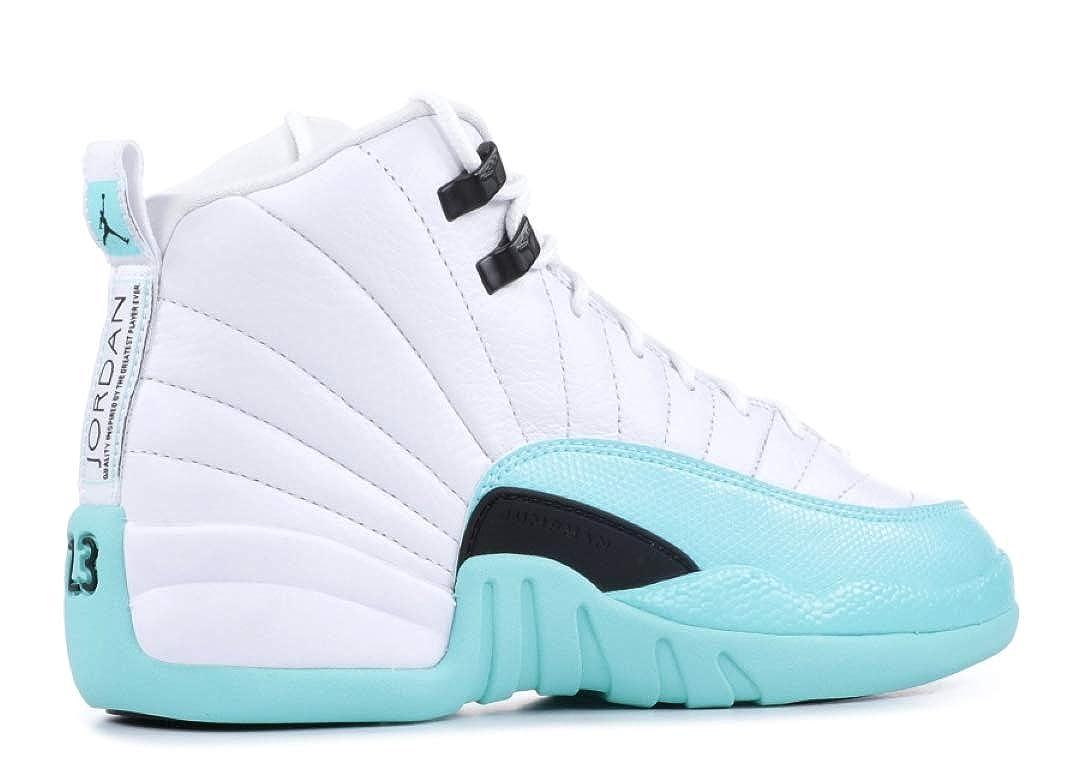 cheap for discount ec7a6 77dc7 Amazon.com   Jordan Nike Air 12 Retro GS Kids Light Aqua 510815-100 (Size   5.5Y)   Basketball