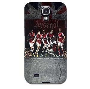 Arsenal Football Club Six Player Printing Case 3D Plastic Union Jack logo Cover for Samsung Galaxy S4 I9500