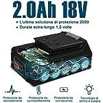 ORFELD-Trapano-avvitatore-batteria-accessori-45-pezzi-batteria-al-litio-da-18-V-2000-mAh-30-Nm-19-1-paia-2-modalita-di-velocita-mandrino-da-10-mm-blu-leggero