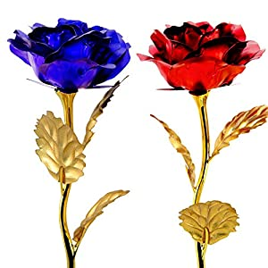 Unite Stone Artificial Flowers in 2 Pack Roses for Her Birthday Gifts and All Women Gifts Idea