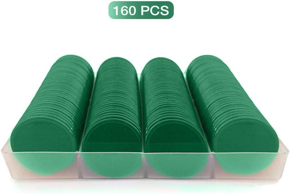 Bogget 160Pcs No Digital Denomination Poker Chip Spiel Tokenz/ähler Poker Chips