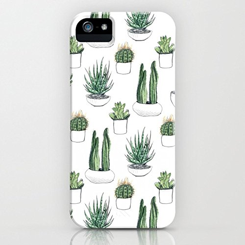 Roses Garden Phone Case Protectivedesign Hard Back Case Watercolour Cacti And Succulent Slim Case iPhone ()