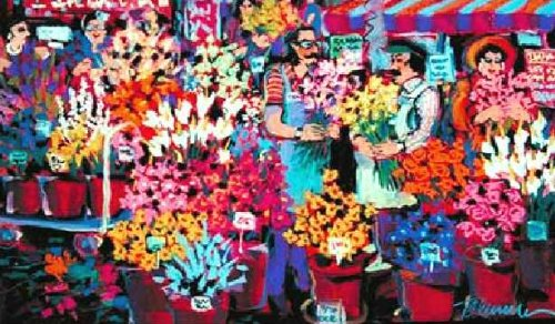 (James Talmadge - Flower Shop Hors de Commerce Hand Pulled Serigraph)