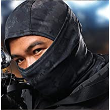 Acid Tactical® Urban Black Camouflage Balaclava Full Face Mask Camo Hunting Airsoft Paintball