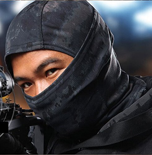 AcidTactical Urban Black Camouflage Balaclava Full Face Mask Camo Hunting Airsoft Paintball