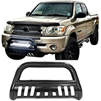 Bull Bar Fits 1999-2006 Toyota Tundra 2001-2007 Sequoia | Black Front Bumper Grille Guard by IKON MOTORSPORTS | 2000 2001 2002 2002 2003 2004 2005