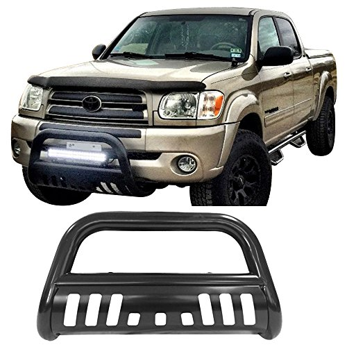 2004 Toyota Tundra Front Bumper - Bull Bar Fits 1999-2006 Toyota Tundra 2001-2007 Sequoia | Black Front Bumper Grille Guard by IKON MOTORSPORTS | 2000 2001 2002 2002 2003 2004 2005