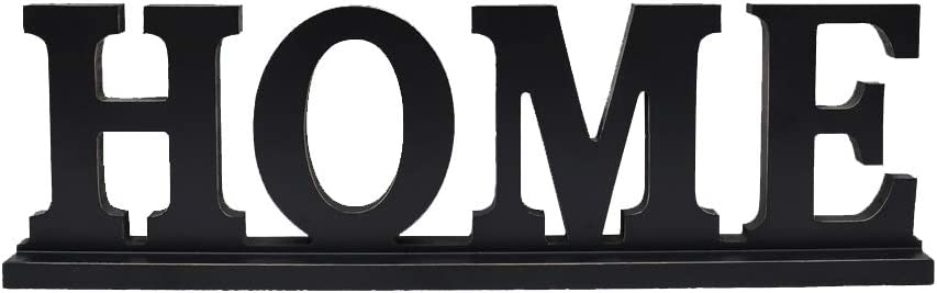 Family Sign for Home Decor, Wooden Family Block Letters Rustic Tabletop Words Decor (Home)