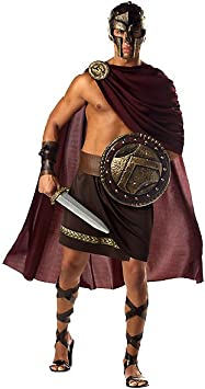 Spartan Warrior Mens Fancy Dress Greek Roman Spartacus Costume ...