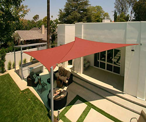 Artpuch 2-Pack 12' x 12' x 12' Triangle Sun Shade Sails UV Block for Shelter Canopy Patio Garden Outdoor Facility Terra (Pole Kit Shade)