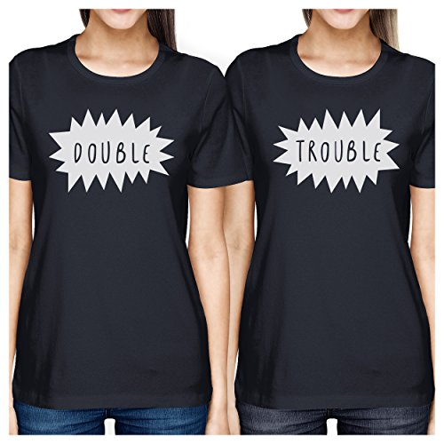 Trouble Camiseta 365 Printing corta Navy para de One manga mujer Size Double 51vn1gq