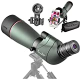 landove 20-60X 65 Waterproof Spotting Scope- Prism Scope for Birdwatching Target Shooting Archery Outdoor Activities -with Tripod & Digiscoping Adapter-Get the Beauty into Screen