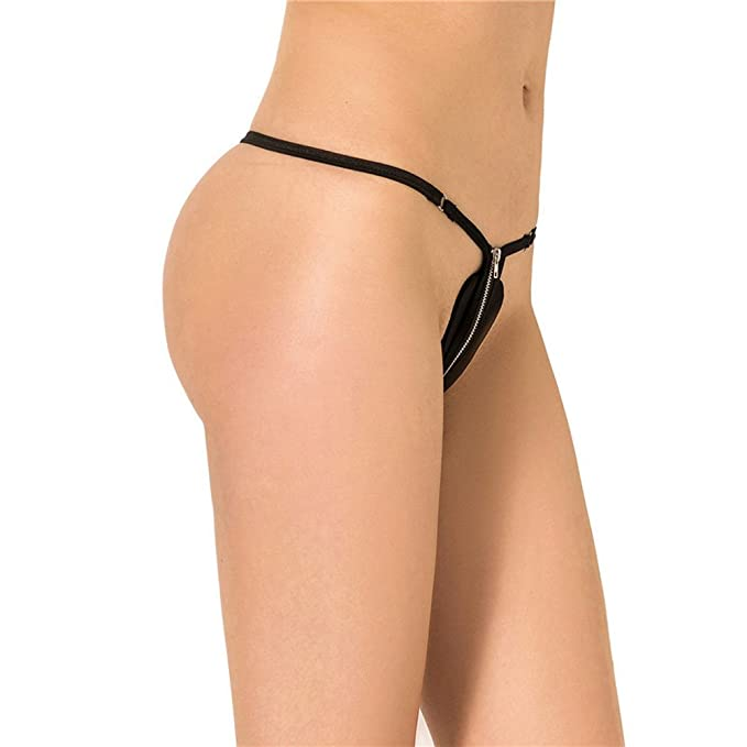 97fbc331b08 IWEMEK Women's Brazilian Teeny Micro Thong Low-Waist Sexy G-Strings V  String Bottom T Back Shorts Panty Underwear: Amazon.co.uk: Clothing