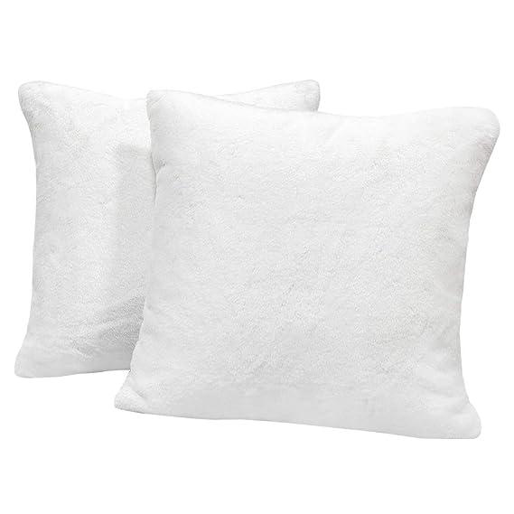 Amazon.com: MHJY Juego de 2 fundas de almohada de piel ...
