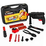Vandora Durable Kids Tool Set with Cordless Drill, Toolbox Birthday Gift Toys for Boys & Girls