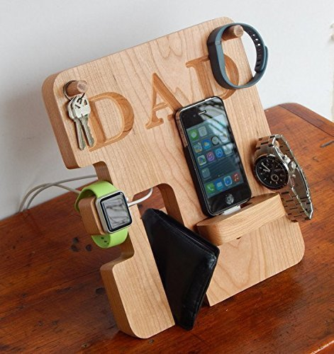 b93cbfb9385df Amazon.com  Personalized Phone and Apple Watch Docking Station ...