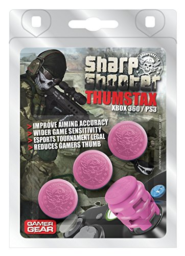 THUMSTAX Bubblegum Pink Sharpshooters (3 Pack) Multi-stackable Analog Extenders for Xbox 360 & PS3