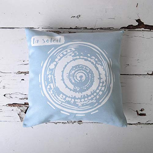 (La Soleil Sea Sun Sand Nautical Beach House Handmade Cushion Pillow Cover)