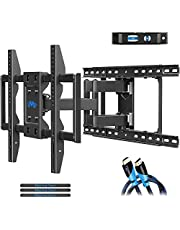 """Mounting Dream TV Wall Mount for 42-70 Inch TVs, Full Motion TV Mount Wall TV Wall Bracket with Articulating Dual Arms, Swivel TV Wall Mounts for Flat Screen/Curved TVs, Max VESA 600x400mm and 100 LBS, Fits 16"""", 18"""", 24"""" Studs MD2296-24K"""