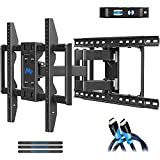 "Mounting Dream TV Wall Mounts TV Bracket for 42-75 Inch TVs, Premium TV Mount, Full Motion TV Wall Mount with Articulating Arms, Max VESA 600x400mm and 100 LBS, Fits 16"", 18"", 24"" Studs MD2296-24K"