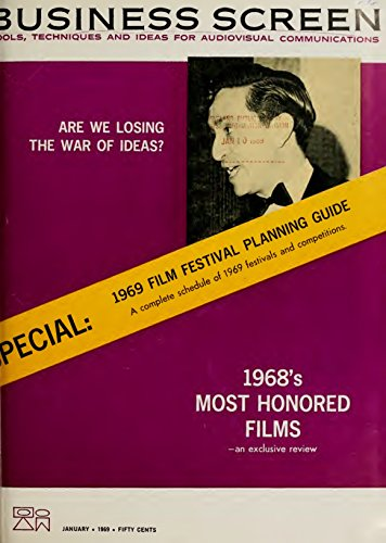 Business Screen (January 1969): Special: 1969 Film Festival Planning Guide (English Edition)