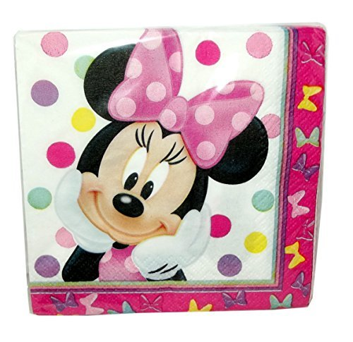 Minnie Mouse Bowtique Beverage Napkins 16 Count -