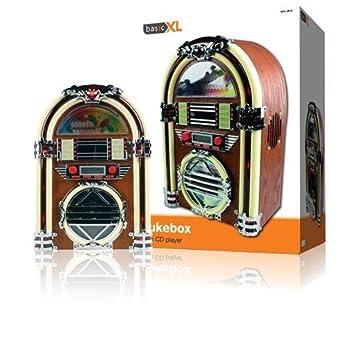 basicXL BXL-JB10 Jukebox 60s Design CD Player 2x 2 Watt