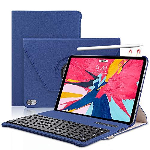 Keyboard Case iPad Pro 11 inch (A1980, A2013, A1934) - 360 Rotating - Detachable Keyboard - PU Leather Stand - iPad Pro 11 Keyboard Case, (Blue, 11 inch)