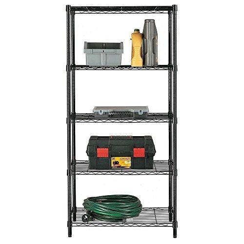 Home Kitchen Garage Wire Shelving 5 Shelf Storage Rack Unit Shelves Metal Closet (Home Depot Wire Shelving For Closets)