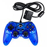 TTX PS2 Wired Controller - Clear Blue - PlayStation 2