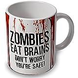 Verytea – Mug Motif Zombies Eat Brains ensanglanté