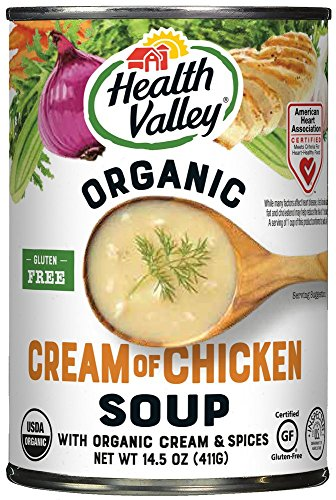 Health Valley Organic Soup, Cream of Chicken, 14.5 Ounce (Pack of ()