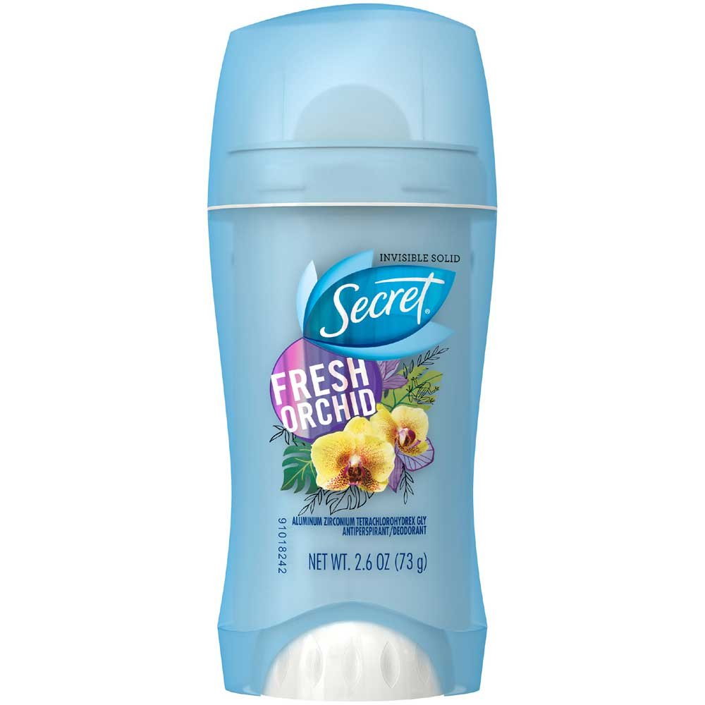 Secret Invisible Solid Fresh Orchid Deodorant, 2.6 Ounce -- 12 per case.