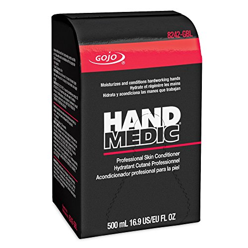 GOJO Hand Medic Professional Skin Conditioner, Silicone and Fragrance Free, 500 mL Industrial Conditioner Refill for GOJO Bag-in-Box Dispenser (Pack of 6) ()