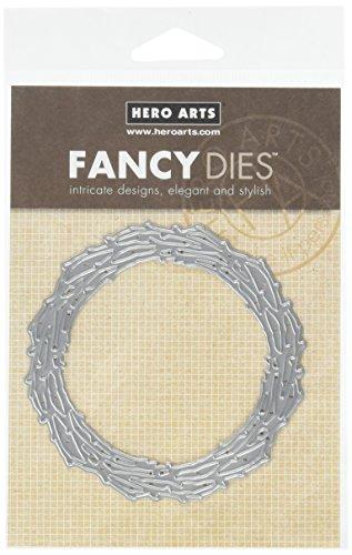 Hero Arts DI327 Branch Wreath Fancy Die (D) Die Cuts by Hero Arts