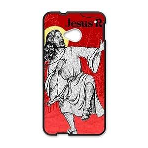 HTC One M7 Cell Phone Case Black JESUS RAVES LV7923566