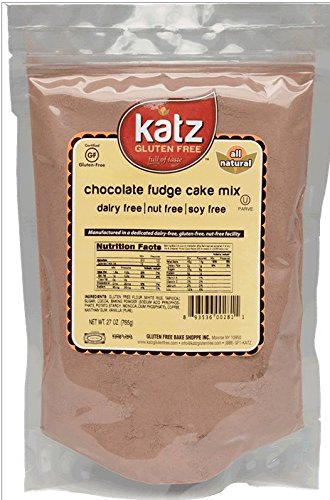 (Katz Gluten Free Chocolate Fudge Cake Mix, 27 Ounce, Certified Gluten Free - Kosher - Dairy, Nut & Soy free - (Pack of 6))