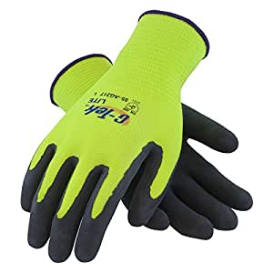 ActivGrip 55-AG317/S 13-Gauge Lite Latex Dipped Chemical Resistant Gloves with Micro Finish Grip, Black/Yellow, Small, 1-Dozen