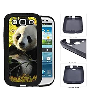 Cute Baby Panda In The Field Rubber Silicone TPU Cell Phone Case Samsung Galaxy S3 SIII I9300