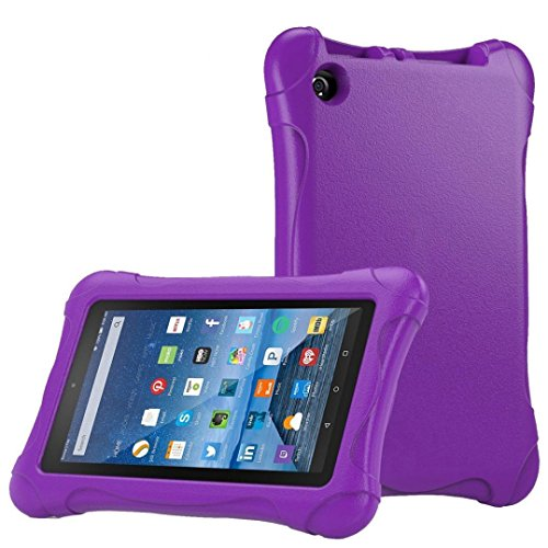 Price comparison product image Sunfei Kids Shock Proof Case Cover for Amazon Kindle Fire HD 7 2015 (Purple)