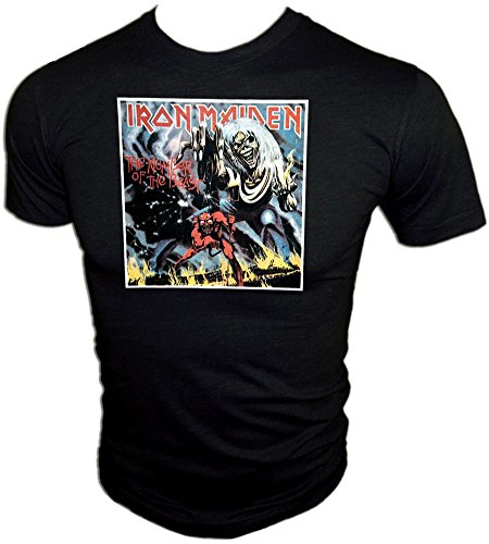 - Vintage 1982 Iron Maiden Rock Concert Number of The Beast Black Tour T-Shirt
