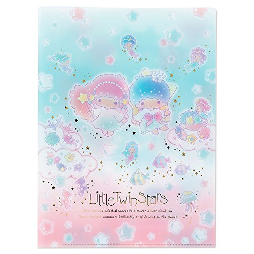 Sanrio Little Twin Stars A4 spread clear files sea of prism From Japan New