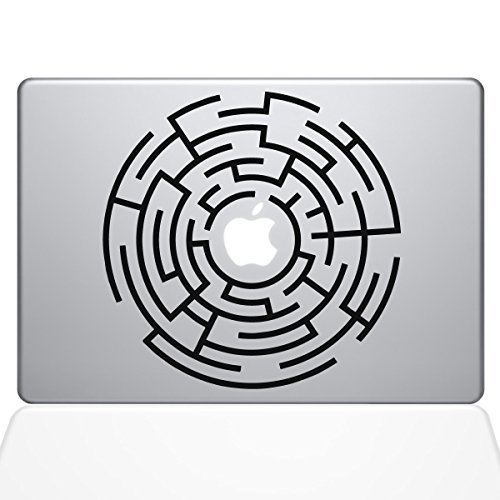 代引き手数料無料 The Decal & Black Guru Circle Macbook Maze Runner Macbook Decal Vinyl Sticker - 13 Macbook Pro (2016 & newer) - Black (1289-MAC-13X-BLA) [並行輸入品] B0788JL785, Land Field:3b52a4e7 --- a0267596.xsph.ru