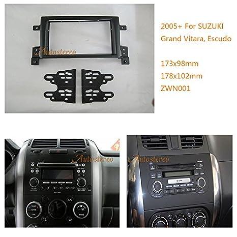 autostereo 09 - 001 Panel Embellecedor para radio de coche Adaptador para Suzuki Grand Vitara Escudo 2005 + Radio de coche Borde de instalación de radio: ...