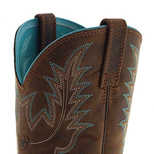 Fb Fashion Boots Ariat 23178 Heritage Stockman Sassy Marrone Western Stivali Da Equitazione Per Le Donne Marrone Marrone