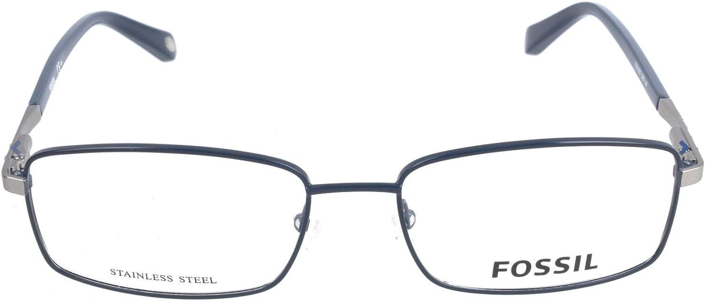 Blau Fossil Brillengestelle FOS 6062 Rechteckig Brillengestelle 55